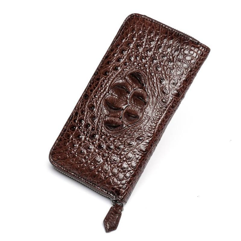 luxury brand Wallet High-quality Crocodile leather fashion men's designer Long Zip card pocket bag purses Billeteras delgada Hot