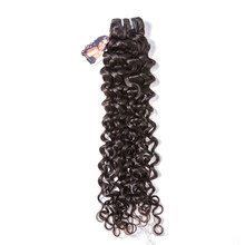 [MissAnna] OneCut High Brazilian Deep Curly Hair Weave 3/4 Bundles With Closure Double Weft Remy Human Hair Bundles With Closure(China)