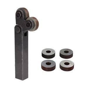 Image 5 - Dual Wheel Knurling Tool Kit 7pcs 0.5mm 1mm 2mm Wheel Linear Pitch Knurl Set Steel Lathe Cutter Wheel Knurling Tool Set