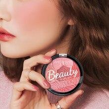 Paleta de sombra facial prensada, 5 cores natural, maquiagem, assado, blush, contorno, cosméticos, pó, blush, coreano