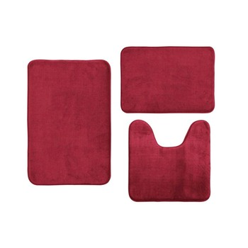 3Pcs Anti-slip Bath Mat Coral Velvet Memory Cotton mat bathroom absorbent non-slip carpet 3 pcs/set Toilet Cushion #LR4