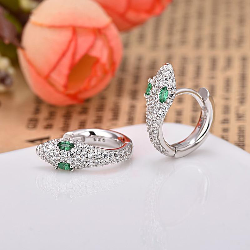 2019 luxury Snake-shaped Shiny AAA Zircon MonacoEarrings High Quality Unique Gold Round Earrings for Women Indian Jewelry