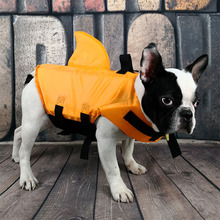 Swimwear Life-Jacket Swimming-Suit Pet Shark Dogs Cool Small Summer for Medium Large