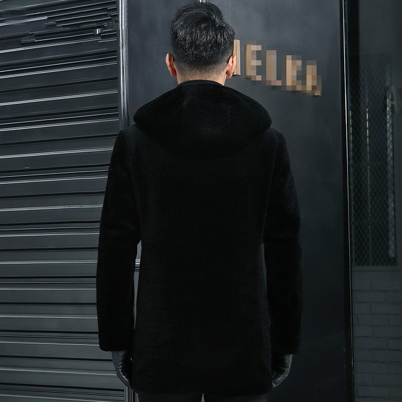Real Wool Autumn Winter Jacket Sheep Shearling Fur Coat Men Streetwear Long Jackets Plus Size JLK12SY12262 Y1998