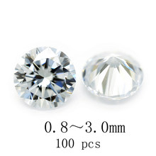 Specification 0.8~3.0mm White Round Cut Cubic Zirconia loose jewelry and CZ loose jewelry and stone 5AAAAA