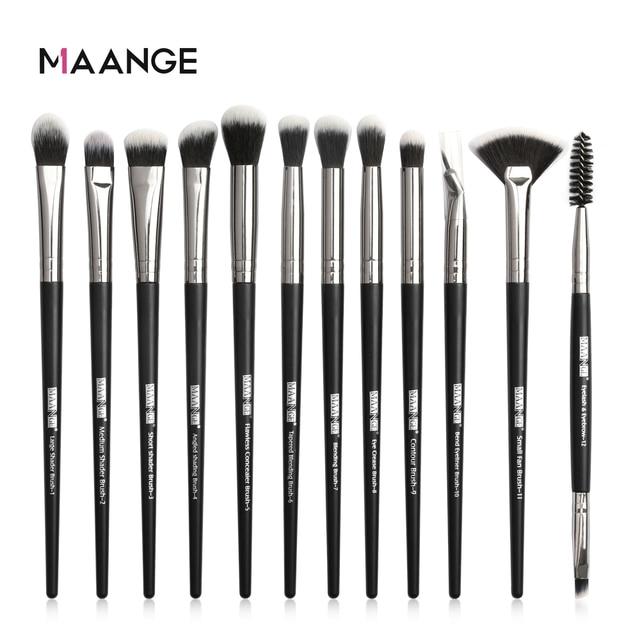 MAANGE 3/5/12Pcs Makeup Brushes Tool Set Cosmetic Powder Eye Shadow Foundation Blush Blending Beauty Make Up Brush Set Drop ship 1