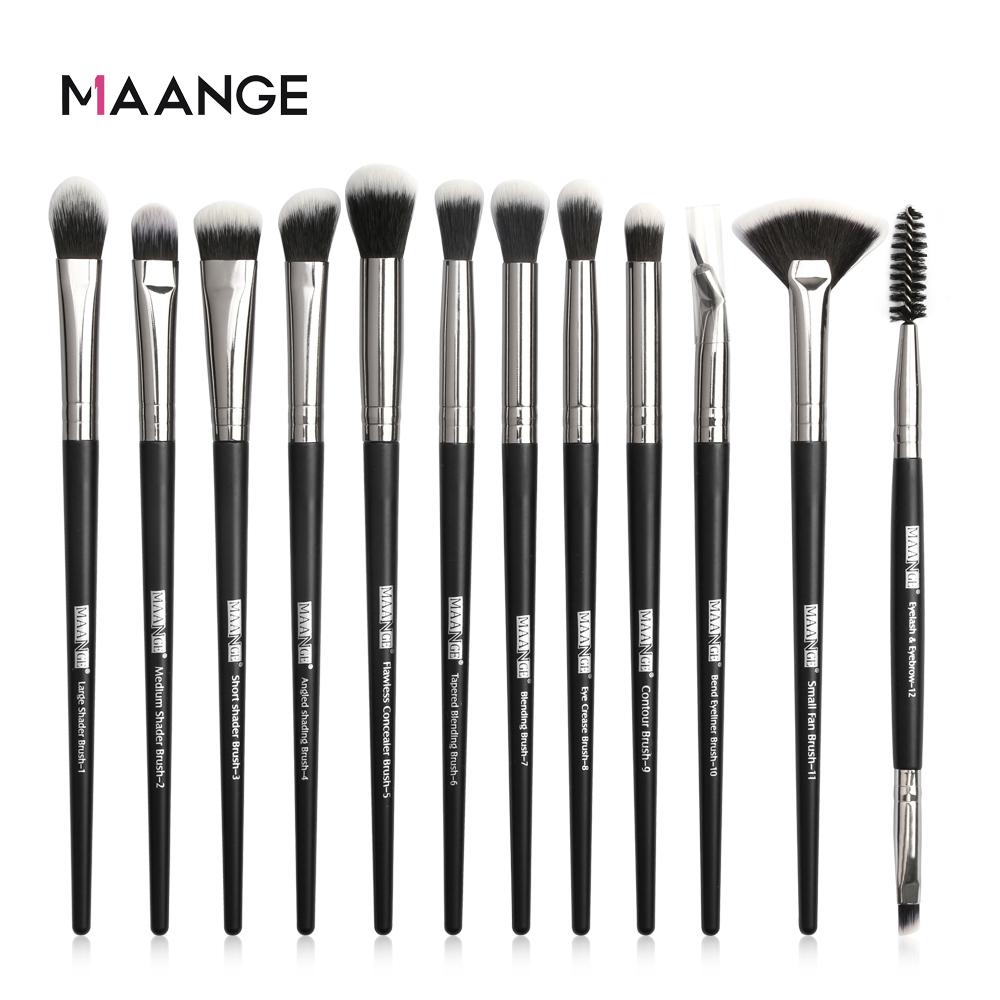 MAANGE 3/5/12Pcs Makeup Brushes Tool Set Cosmetic Powder Eye Shadow Foundation Blush Blending Beauty Make Up Brush Set Drop ship