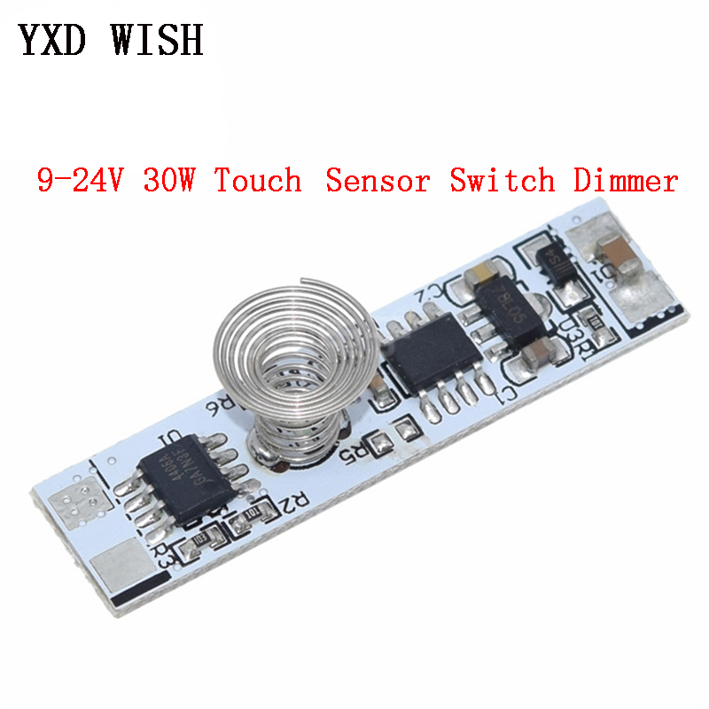For Smart Home LED Light Strip Touch Sensor Switch Dimmers Capacitive Coil Spring Switch LED Dimmer Control Switch 9-24V 30W 3A