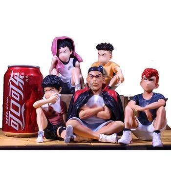 цена на 13 CM Anime SLAM DUNK Sakuragi Hanamichi PVC Action Figures Rukawa Kaede Akagi Takenori Mitsui Hisashi Collection Model Toys