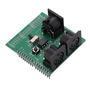 MIDI Shield Musical Breakout Board Instrument Digital Interface Adapter Plate for Arduino Adapter Board Module