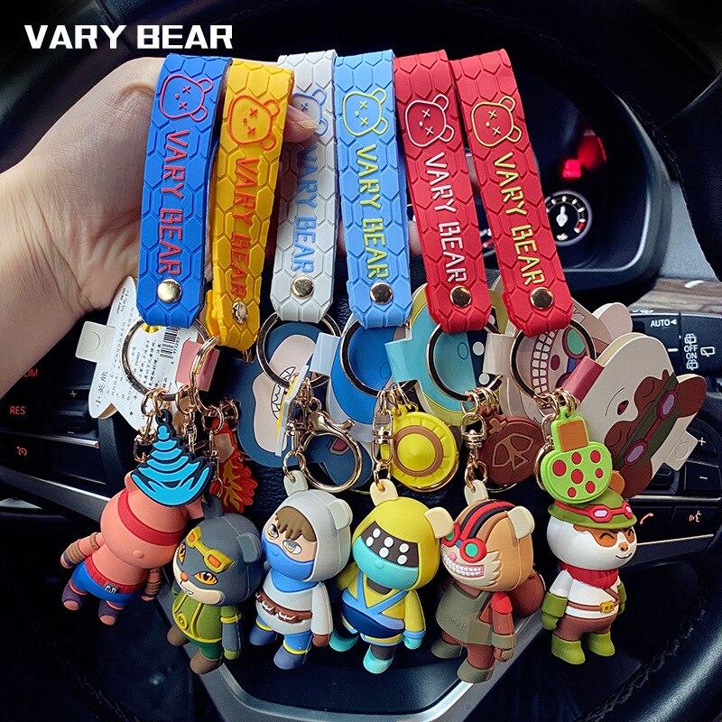 League Of Legends key chain Little British Bear Union key Chains Cute girl Creative Car Pendant couple Pendant Simple Keyring