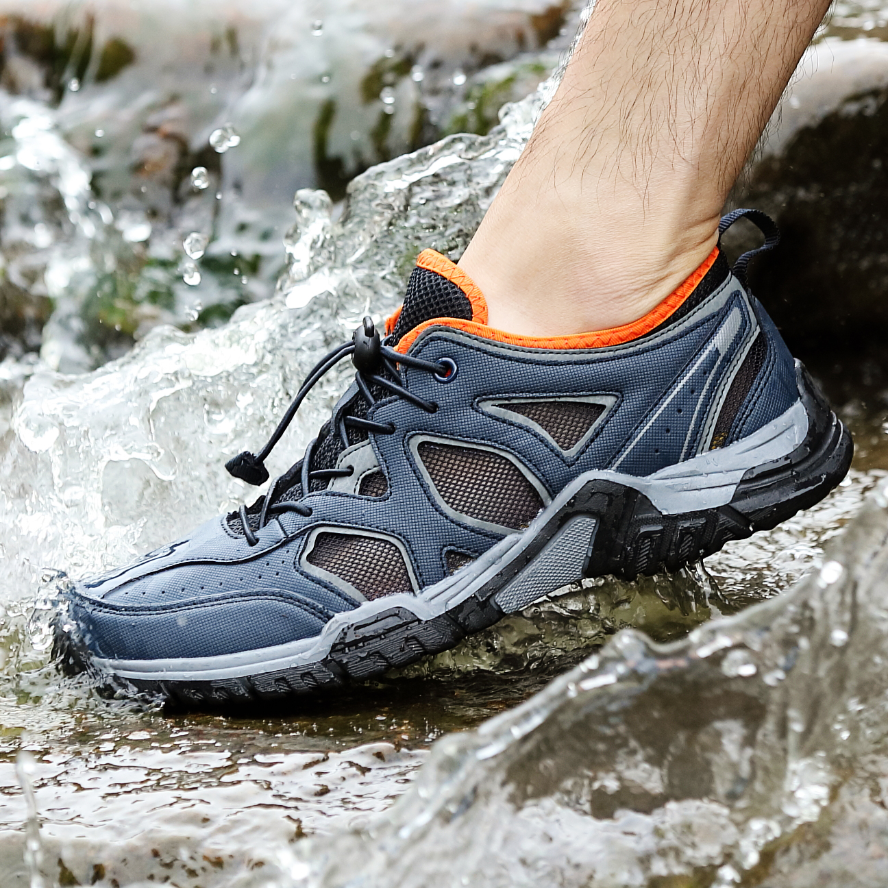 Summer Men Trekking Shoes Outdoor Professional Hiking Sneakers Male Breathable Climbing Mountain Shoes Black Hunting Sneakers|Hiking Shoes| |  - title=