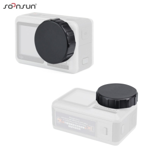 Image 5 - SOONSUN Tempered Glass Screen Protector Scratch resistant Protective Lens Film + Silicone Cap Cover for DJI Osmo Action Camera