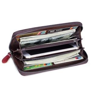 Image 4 - 本革の女性の財布ロングクラッチ花レディース財布と財布女性rfidカードホルダーコイン財布女の子