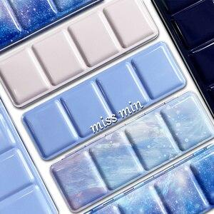 Image 1 - 24 Kleur Starry Verf Lade Palet Medium Aquarel Pigment Doos Volledige Blok Tinta Ijzeren Doos Roze Kleuren Voor Gouache Art levert