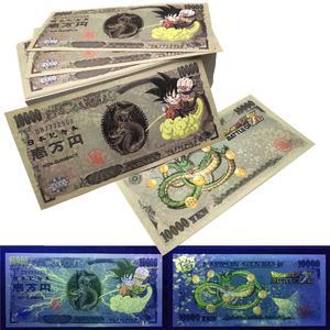 Yen Dragon Ball Paper Banknotes 10000 Japanese Yen Not Currency Anti-Fake Bills Billet Collectibles