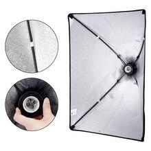 Kits de iluminação softbox fotografia, 50x70cm, sistema de luz macio, caixas para estúdio fotográfico