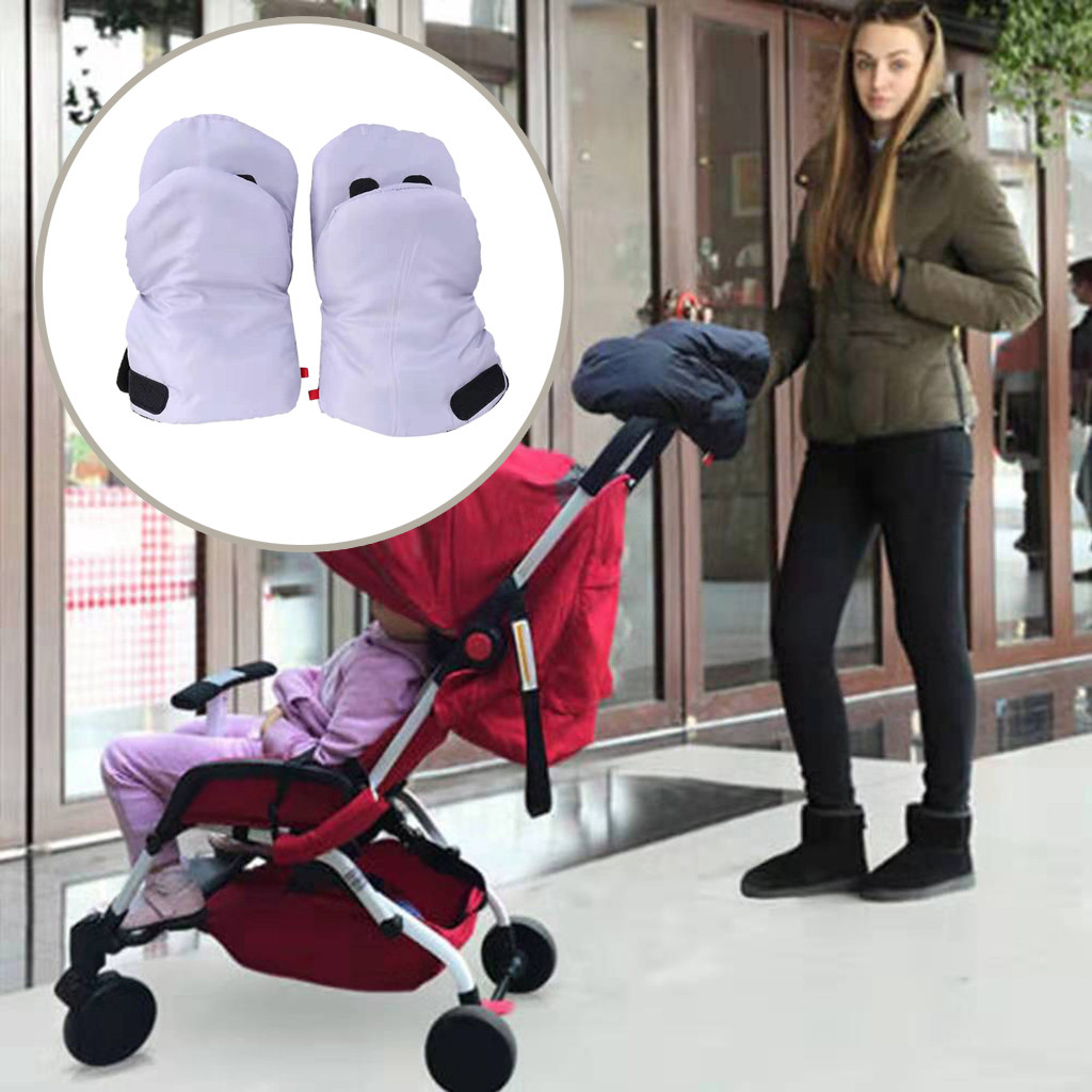 Baby Stroller Hand Muff Extra Thick Gloves Winter Warm Waterproof Gloves 1·Pairs