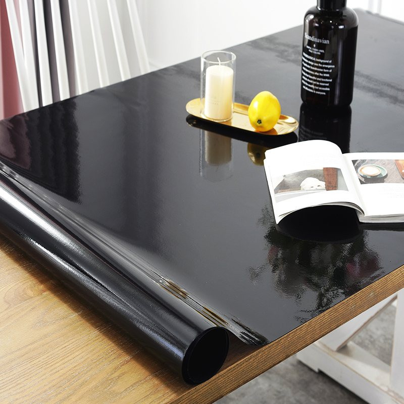 Black Tablecloth manteles Transparent Waterproof Kitchen Table protective table cover oil proof Glass Soft Cloth Table cloth 1.0|Tablecloths|   - AliExpress