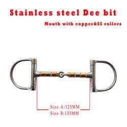 Envío Gratis Acero inoxidable racing Dee bit, boca con SS y rodillos de cobre. Producto de caballo, producto de Carreras de Caballos (BT0401)