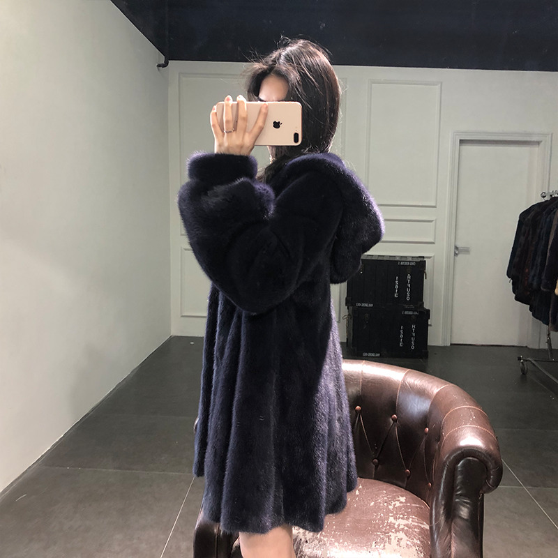 Real Fur Coat Women Natural Mink Fur Coat Hooded Women Winter Warm Thick Plus Size Outwear Casaco Inverno YT09 MF347