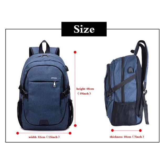 LOOZYKIT Men Backpack Laptop Bag Brand 15.6 Inch Notebook Mochila Male Waterproof Back Pack Backbag School Backpack 1