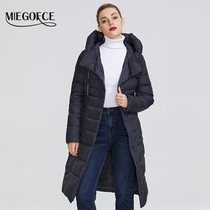 Image 3 - MIEGOFCE 2019 חדש חורף נשים של אוסף של מעיל באורך הברך Windproof נשים של מעיל עם Stand Up צווארון הוד Parka