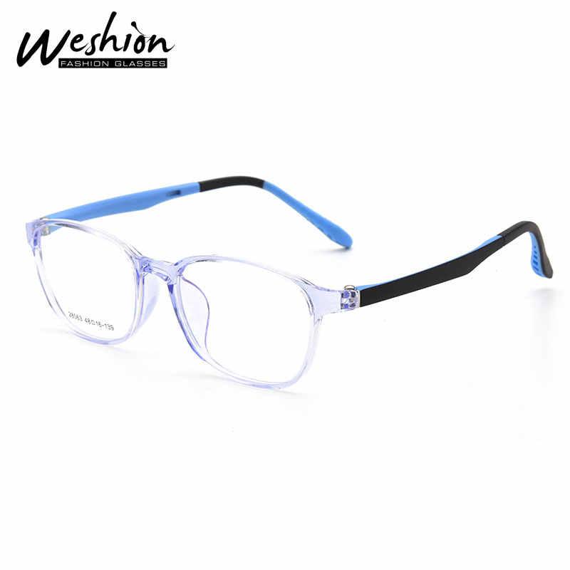 Blau Licht Gläser Kinder Jugendliche Jugend Junge Mädchen TR90 Flexible Rahmen Reflektierende Optische Junior High Computer Brillen 8 to18 UV40