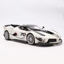 Coche deportivo Ferrari Fxxk escala 1:18, modelo de coche de aleación moldeado a presión, Control del volante con caja