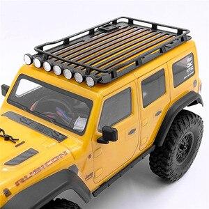 RC автомобиль прочный багажник на крышу багаж переноска прожекторы лестница модификация часть для осевой SCX-24 1/24