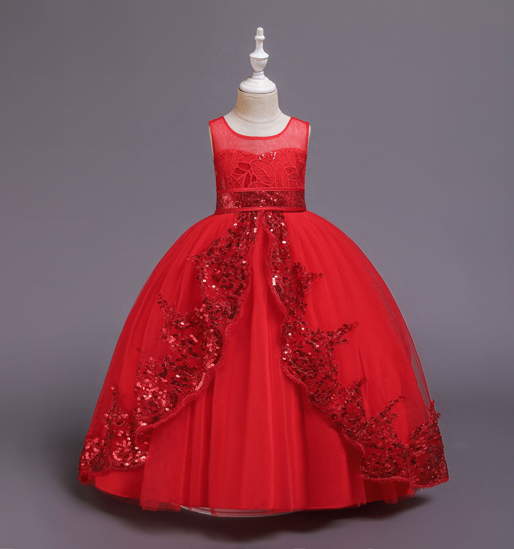 New Kids Dresses For Girls Teenager Bridesmaid Elegant Princess Wedding Lace Dress Vestido Party Formal Wear 8 10 12 14 Years 1