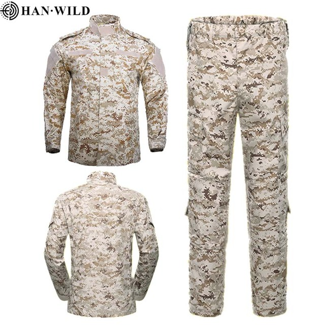 HAN WILD Multicam Camouflage Male Security Military Uniform Tactical Combat Jacket Special Force Training Army Suit Cargo Pants 5