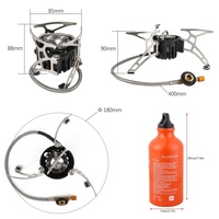 Powerful Multi fuel Camping Stove Outdoor Propane Oil & Gas Stove Furnace Cooking Picnic Hiking Supplies