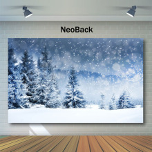NeoBack Winter Snow Forest Photography Backdrops Bokeh Pine Snowflake Backdrop Children Backgrounds for Photo Studio kate winter backdrops photography ice snow tree scenery photo shoot white forest world backdrops for photo studio
