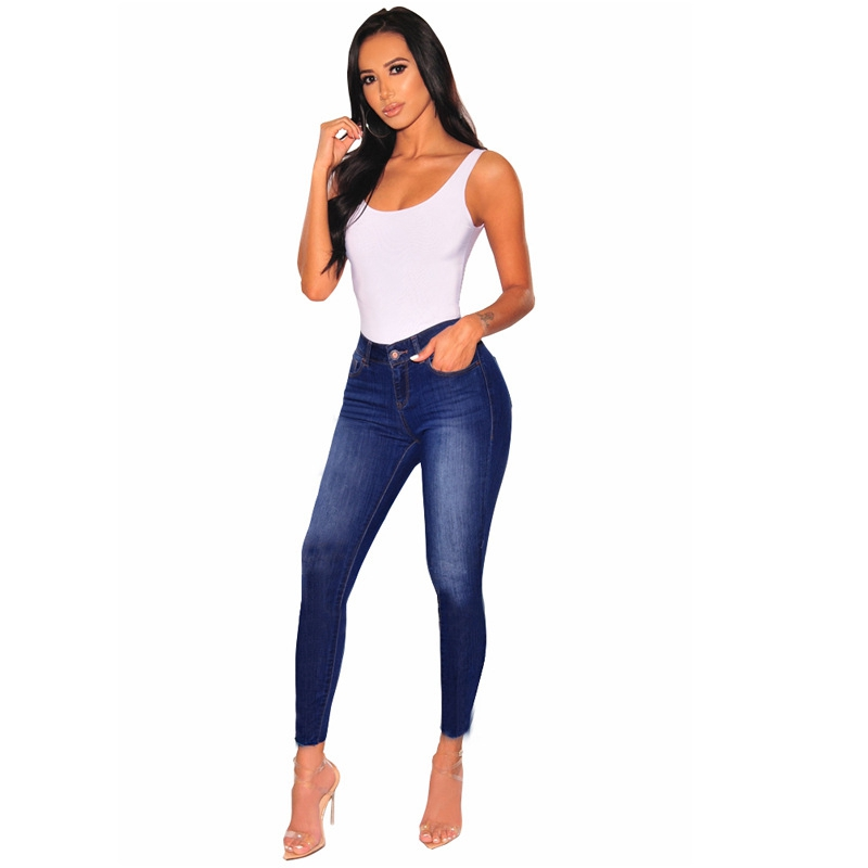 Jeans for Women mom Jeans High Waist Jeans female High Elastic plus size Stretch Jeans Ladies washed denim skinny pencil pants