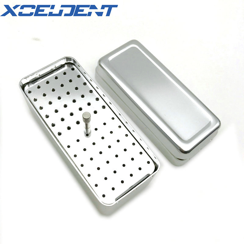 1PCS 72 Holes Dental Diamond Bur/File Endo Case Sterilization Organizer Holder Autoclave Container For Dental Lab