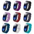 EiEuuk мягкий силиконовый браслет на ремне спортивный браслет для Samsung Gear Fit 2 Pro и Fit 2 SM-R360 Smartwatch