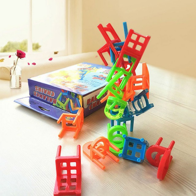 Original-Box-Hehepopo-18-Pcs-Set-Board-Game-Balance-Chairs-Adult-Kids-Stacking-Game-Parent-Child