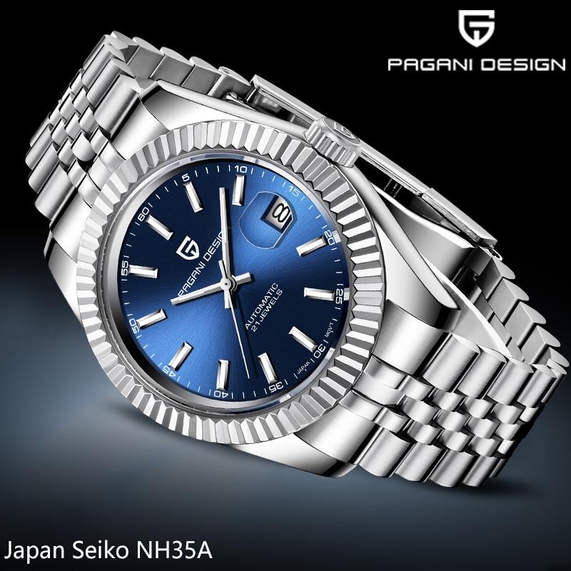 2020 New PAGANI DESIGN Luxury Brand Men's Watches Mechanical Business Watch Male Steel Wateroproof Clock Men Watch Reloj Hombre