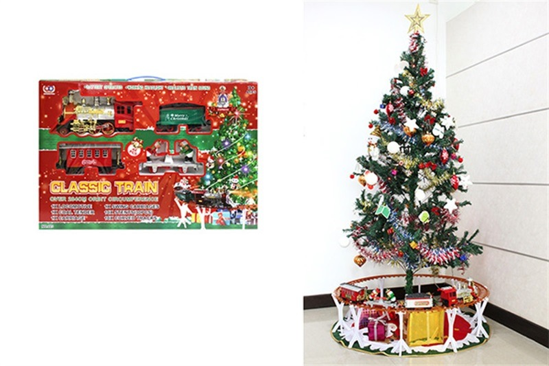 Electric Christmas Rail Train Electric Light And Sound Train Children Christmas Gift Toy