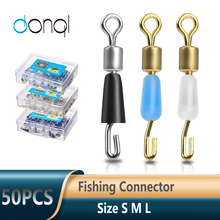 Fishing-Hook Bearing Swivel Fast-Connector DONQL Carp 50pcs/Lot Rolling Solid-Rings Quick-Link