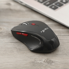HXSJ Black Wireless Mini Bluetooth 3.0 Optical Mouse 2400dpi Gaming Mouse (Without Battery)