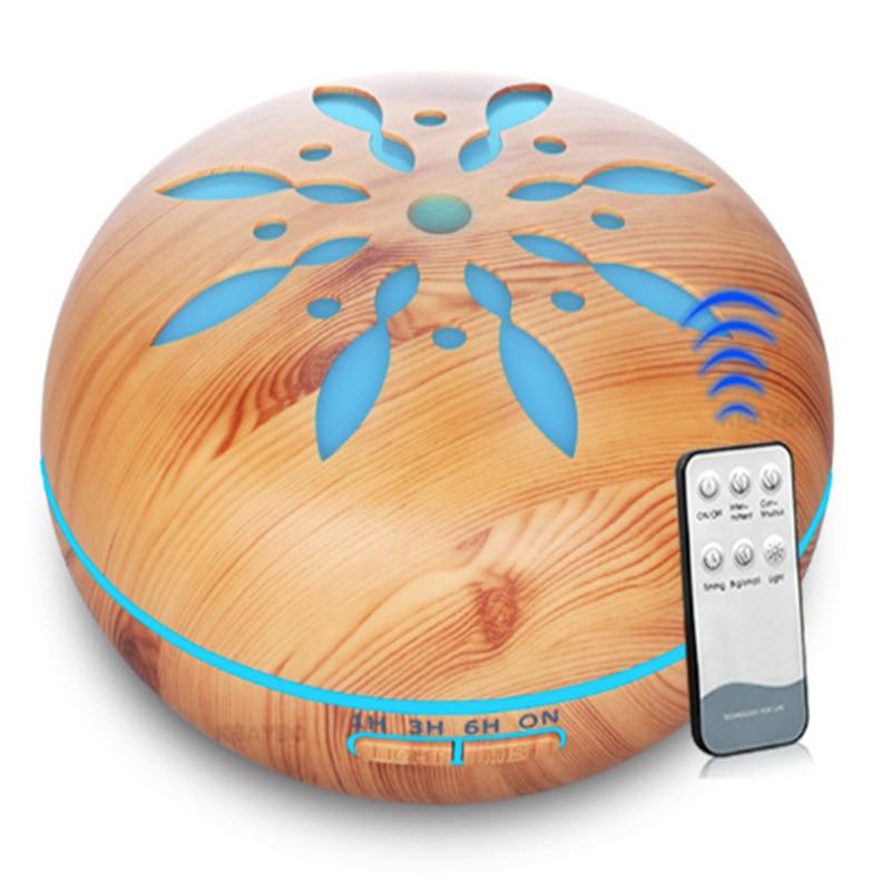 500 мл эфирное масло Арома ультразвуковой распылитель увлажнитель с пультом дистанционного управления 7 меняющихся цветов светодиодные лампы для дома