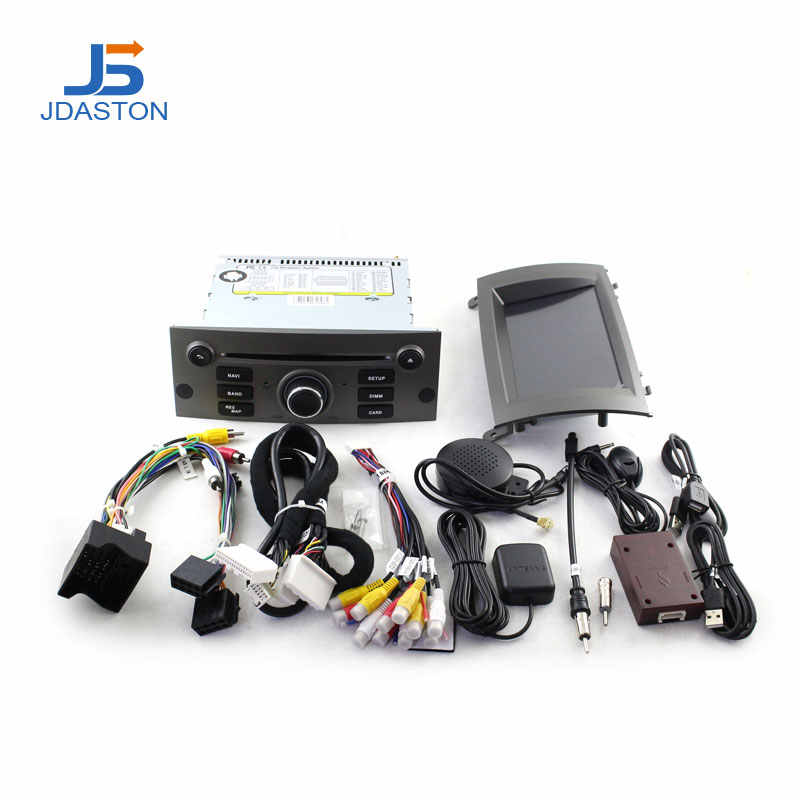 JDASTON Android 10.0 เครื่องเล่นมัลติมีเดียสำหรับรถยนต์สำหรับ Peugeot 407 2004-2010 WIFI GPS นำทางวิทยุรถยนต์ DVD CD 4G + 64G 8 แกน