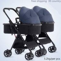 yoya yoyaplus Twin baby stroller side by side landscape high visior cart double umbrella light super light stroller for two