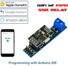WiFi IoT ESP01 ESP8266 SSR Relay module - solid state relay for AC Switch, AC 600V 4A, for smart home and DIY projects
