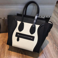 New Arrival Fashion Women's Handbag High Quality Genuine Leather Smile Face Design Luxury Trapeze Bag Top handle Shoulder bag