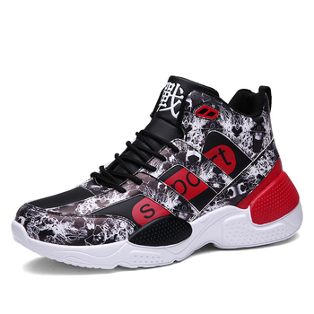 2019 New Basketball Shoes for Men Cushioning Basketball Sneakers Men's High-top Outdoor Sport Sneakers Breathable Athletic Shoes