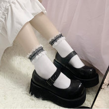Kawaii white Lace Socks Women Harajuku Short Cotton Socks Japan Lolita Funny Socks Girls Calcetines Mujer Streetwear