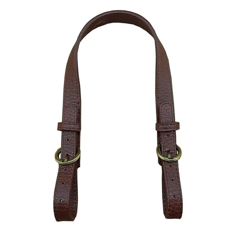 1PC Double-ended Adjust Shoulder Bag Belts Strap DIY Black Handbag Bucket Bag Accessories Handle PU Leather Vintage Bays Strap